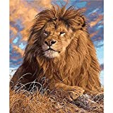 DIY Paint by Numbers for Adults DIY Oil Painting Kit for Kids Beginner - Lion 16