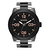 Nixon Unisex The Corporal SS X High Caliber Collection Black/Rose Gold Watch (Color: Black/Rose Gold, Tamaño: One Size)