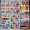 "6 Sheets "" Motorcross stickers "" AZK boys Rockstar bmx bike STICKER BOMB PACK Scooter Moped army Decal Stickers"