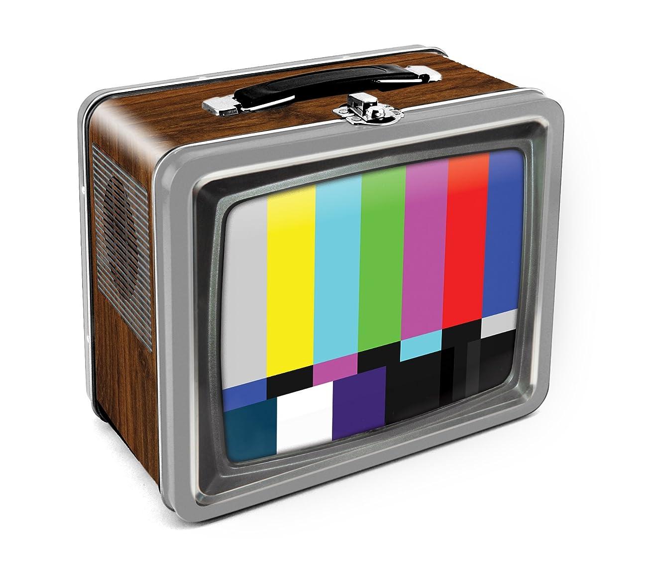 Aquarius Vintage TV Embossed Large Tin Fun Box 0
