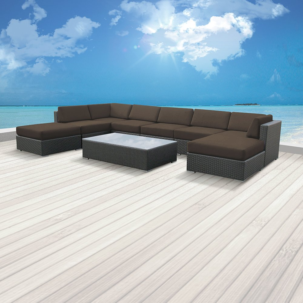 Luxxella Outdoor Patio Wicker MALLINA Sofa Sectional