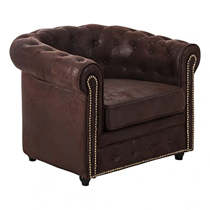 Sillon Capitone CHESTER Marron - Decoracion Casa Viva