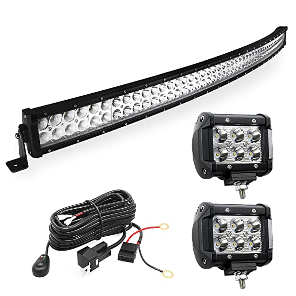 LED Light Bar YITAMOTOR Curved 50 Inch 288W Light Bar Combo ... on light bar bulbs, light bar on 4 wheeler, light bar lights, light bars for trucks, light bar battery, light bar switches, light bar bracket, light bar 24 in, light bar cover, light switch battery wiring, light bar bumper, light bar windshield, light bar headlights, light bar control box, light bar switch harness, light bar wiring labels,