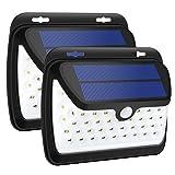 GELOO Solar Lights Outdoor, Wireless 42 LED Motion Sensor Solar Lights with Wide Lighting Area, Waterproof Wall Light Security Night Light for Front Door, Back Yard, Driveway, Garage (Color: Black, Tamaño: 2 Pack)