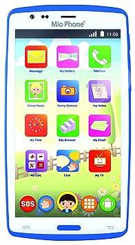 "Lisciani Giochi 55661 Mio Phone Evolution HD 5"", bleu, smartphone pour enfant"
