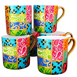 colourful hand painted mugs by Caroline Hely Hutchinson on Amazon.co.uk