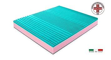 Matelas ressorts ensachés et mémoire de forme Modèle Bar Aloe Spring 26 cm avec dispositif médical de Classe 1 déductible 5 cm à mémoire de forme 7 zones de portance sélectif revêtement d&eacut