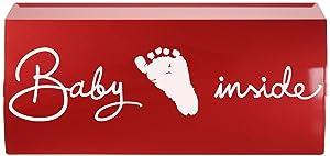 Lini - Pegatina autoadhesiva decorativa con texto en inglés de bebé a bordo (para dormitorios infantiles, cuna o coche), color rosa   Revisión del cliente y la descripción más
