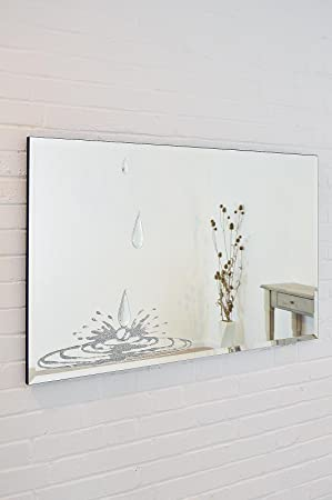Large Liquid Glass And Crystal Desing Tear Drops Wall Mirror 3ft7 x 2ft4