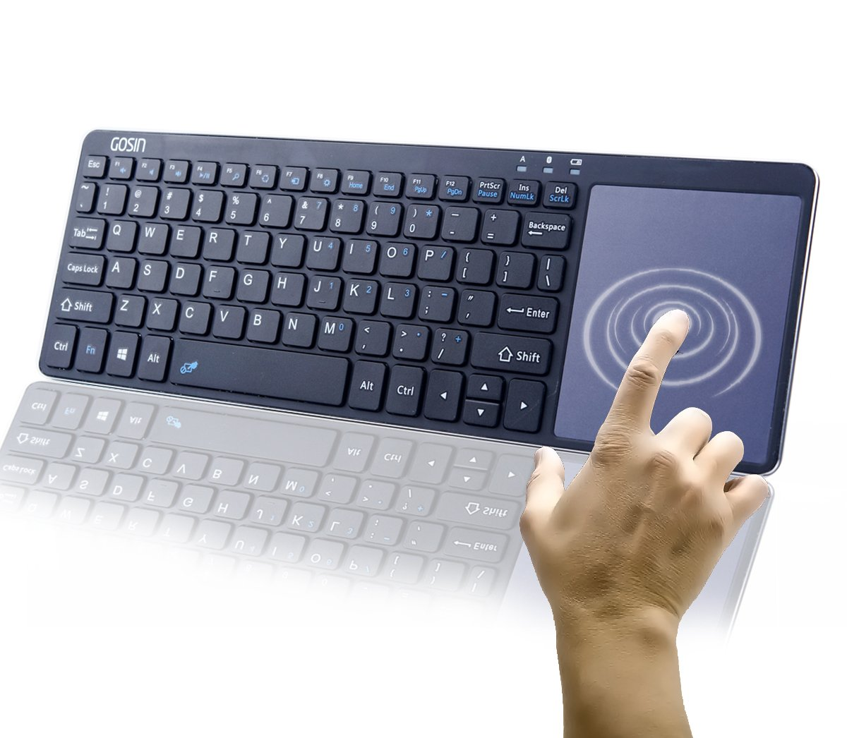 Ultrathin Metal Wireless Bluetooth Keyboard Touchpad Windows Android IOS Tablet