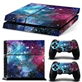 MATTAY PS4 Whole Body Vinyl Skin Sticker Decal Cover for Playstation 4 System Console and Controllers - Starry Galaxy