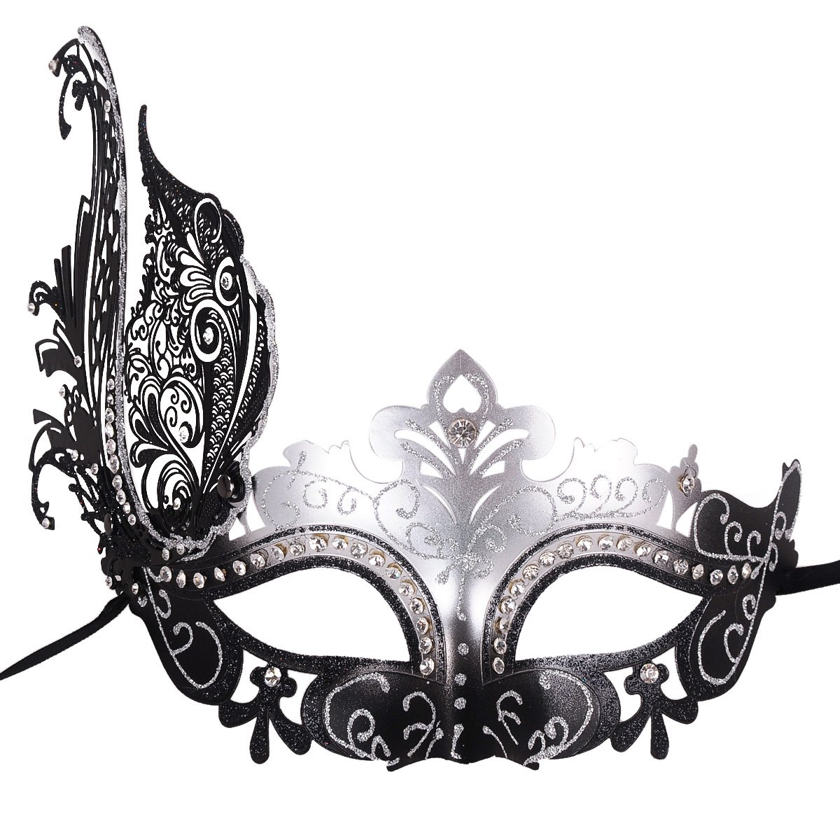 Coxeer Venetian Mask Halloween Mask Party Mask Vintage Masquerade Mask for Prom 2