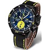 Vostok Europe Almaz Jurgis Kairys Titanium Chronograph Men's Watch Leather Strap 6S11/320J362