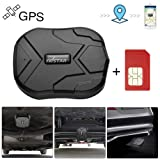 GPS Tracker for Vehicles Hidden Magnetic Vehicles GPS Tracker Locator Real Time GPS Tracker for Car Motorcycles Trucks with Anti-Theft Alarm SIM Card - TK905