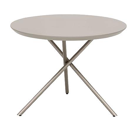 Living Moments 2181101501 Coffee tavolino da salotto, 60 x 45 cm, colore grigio chiaro pietra