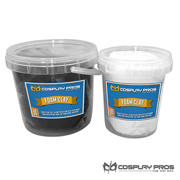 Cosplay Pros Air Dry Moldable Foam Clay (White, 150G (5.29 oz)) (Color: White, Tamaño: 150G (5.29 oz))