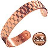 Earth Therapy Pure Copper Magnetic Heavyweight Cuff Bracelet for Men, Recovery and Injury Relief, Golf, Tennis, Baseball, Volleyball, Squash