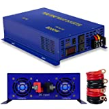 XYZ INVT 3000W Pure Sine Wave Power Inverter 24V DC to 120V AC with 2 AC Outlets 2 Sets of Battery Cables, Power Converter Generator for Home, Solar, RV.(3000W24V) (Tamaño: 3000W24V)