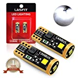 LASFIT 194 168 T10 192 2825 W5W LED Bulb Canbus Error Free, Non-Polarity 400LM 6000K Extremely Bright for Dome Map Courtesy Door License Plate Trunk Cargo Lights, Xenon White (Pack of 2) (Color: White, Tamaño: 194/168/T10)