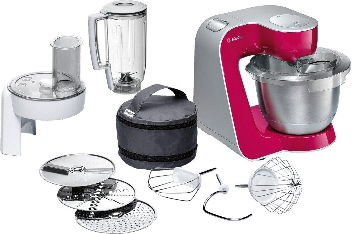 Robot de cocina con múltiples accesorios. Bosch Styline Colour