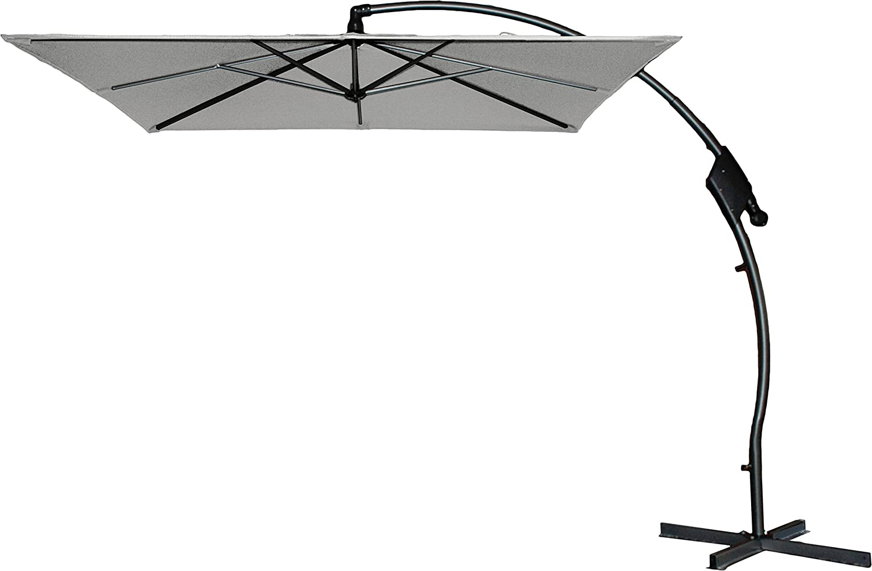 Hartman Ampelschirm 250×250 cm Tenero hellgrau Sonnenschirm Sonnenschutz incl. Schirmfuß günstig