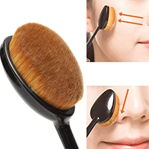 Oneleaf Super Soft 6Pcs Oval Toothbrush Makeup Brushes Set Cream Contour Powder Concealer Foundation Cosmetics Tool