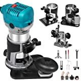 Mophorn 1.25HP Compact Router Kit Max Torque 30,000RPM Variable Speed Router w/Handles For Woodworking & Furniture Manufacturing