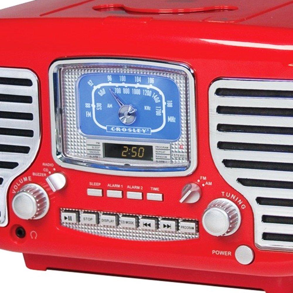 Crosley Corsair Red Alarm Radio and CD Player 1