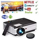EUG HD Movie Projector Android Wireless, 5.8