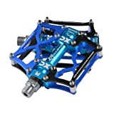 RockBros Mountain Bike Pedals Cycling Sealed Bearing Pedals (Black Blue) (Color: Black Blue, Tamaño: 3.82 x 3.74 x 1.7 inches)