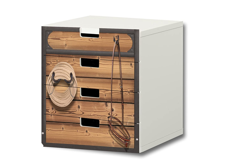 """""""Pferdewelt"""" Möbelsticker / Aufkleber – S4K23 – passend für die Kinderzimmer Kommode mit 4 Fächern / Schubladen STUVA von IKEA – Bestehend aus 4 passgenauen Möbelfolien (Möbel nicht inklusive) online bestellen"""