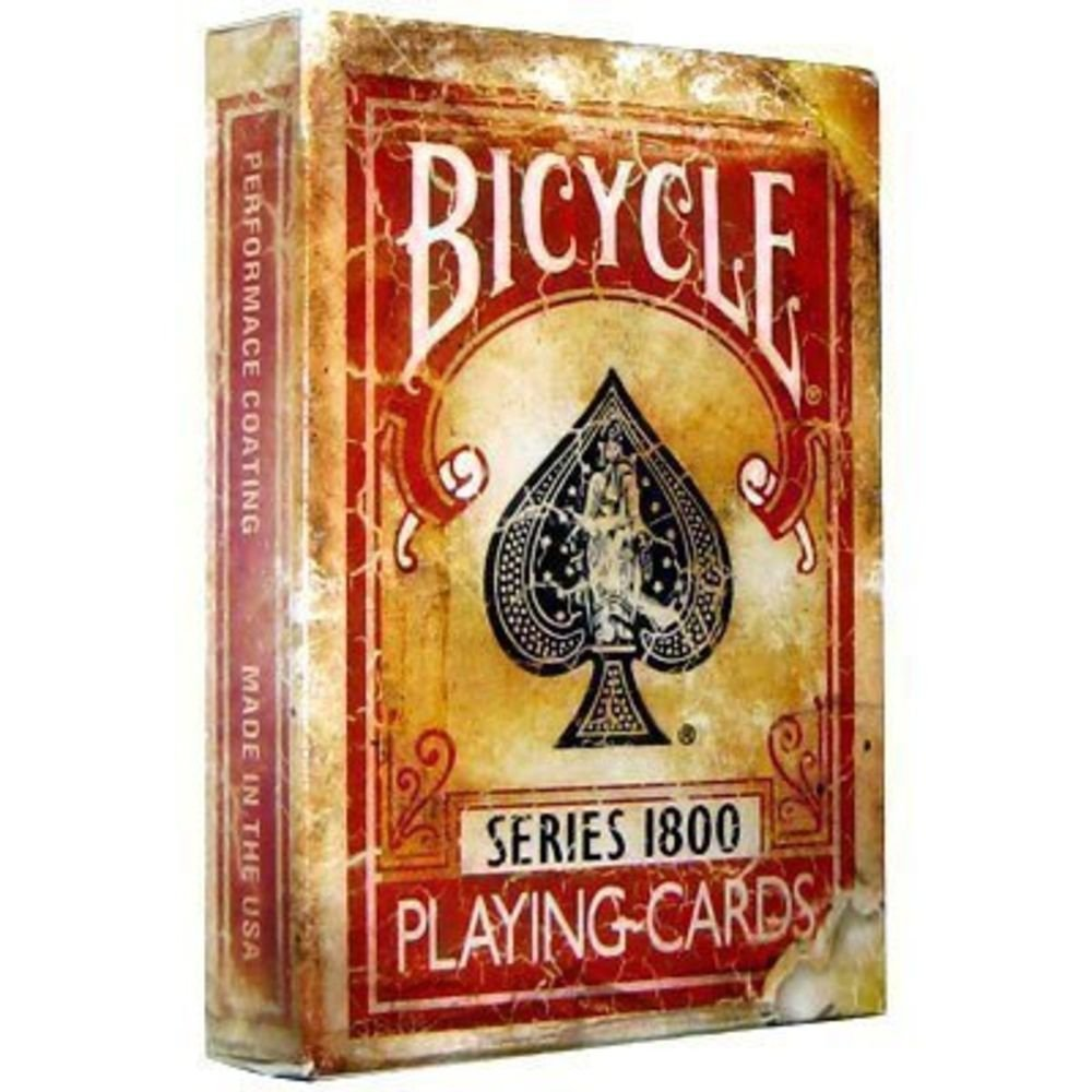 Bicycle 1800 Vintage Series Playing Cards by Ellusionist (Red) 0