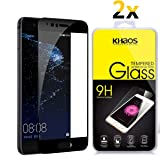[2-Pack] Khaos for Huawei P10 HD Clear Tempered Glass Screen Protector,3D Full Cover with Lifetime Replacement Warranty -Black