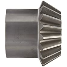 "Boston Gear L158Y-P Bevel Pinion Gear, 2:1 Ratio, 1.125"" Bore, 6 Pitch, 18 Teeth, 20 Degree Pressure Angle, Straight Bevel, Steel"