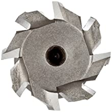 "Niagara Cutter N10830 T-Slot Shank Type Cutter, High Speed Steel, Uncoated (Bright), Weldon Shank, 10 Helix Angle, 31/32"" Cutter Diameter, 8 Tooth, 25/64"" Width"