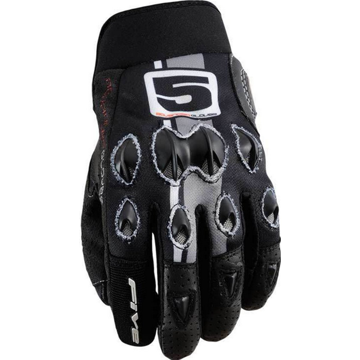 Five Stunt Replica Vintage Adult Street Motorcycle Gloves - Black/Grey / Medium 0