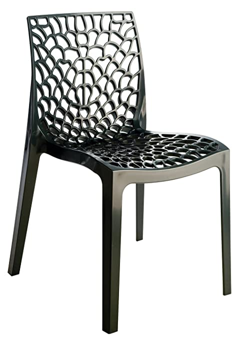 UP ON Nr.4 Chairs Mod. Gruvyer Higlopp Anthracite Gloss