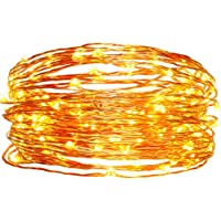 easyDecor Copper Wire 100 LED 33-Feet Waterproof Decorative Solar String Lights (Warm White)