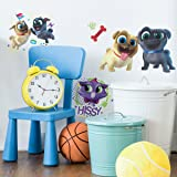 Puppy Dog Pals Repositionable and Removable Peel and Stick Wall Decals (Color: Blue, Brown, Red, Yellow, Tamaño: 9