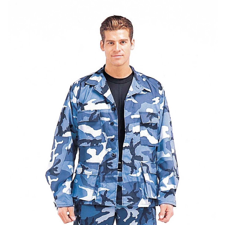 Rothco Sky Blue Camouflage Military BDU Shirt