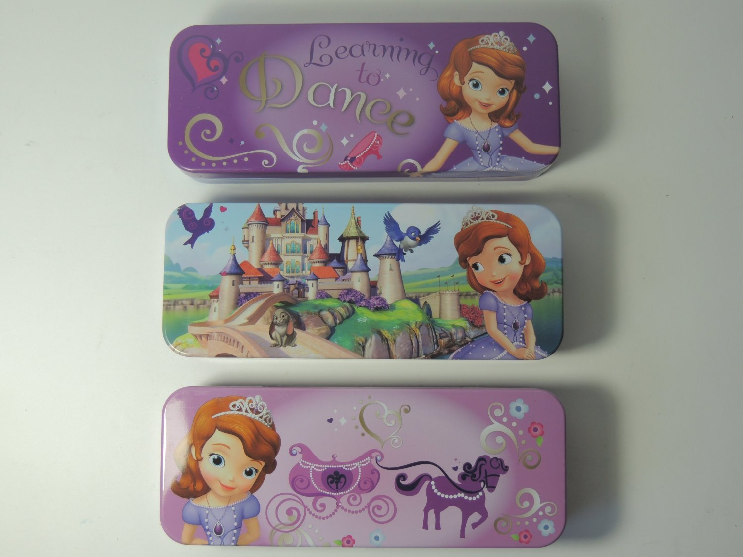 Disney Princess Sofia the First Tin Pencil Case (Random 1pcs) disney princess train case