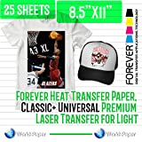 Forever Heat Transfer Paper, Classic+ Universal Premium Laser Transfer for Light 25 sheets 8.5