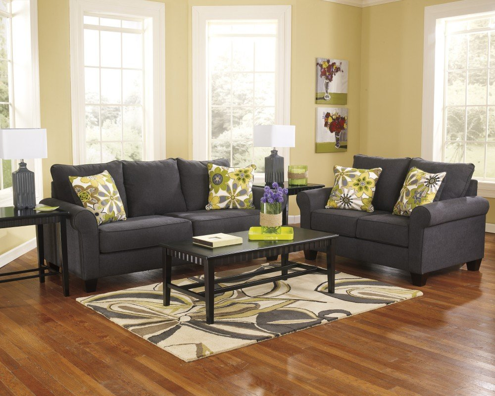 Ashley Furniture Industries - Nolana Stationary Set - (Includes: 1 Sofa & 1 loveseat)