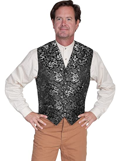 Men's Vintage Inspired Vests Old West Classic Dragon Vest  AT vintagedancer.com
