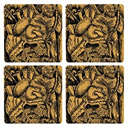 Posterboy The Adult Cupid MDF Coaster Set, Set of 4, 101mm, Multicolor
