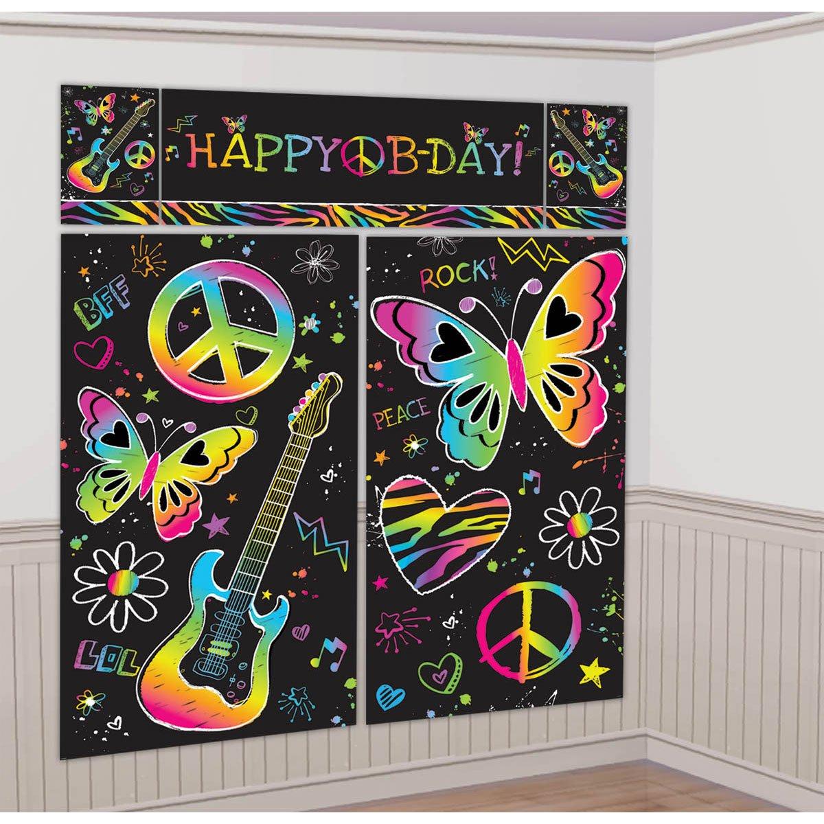 Neon Doodle Birthday Party