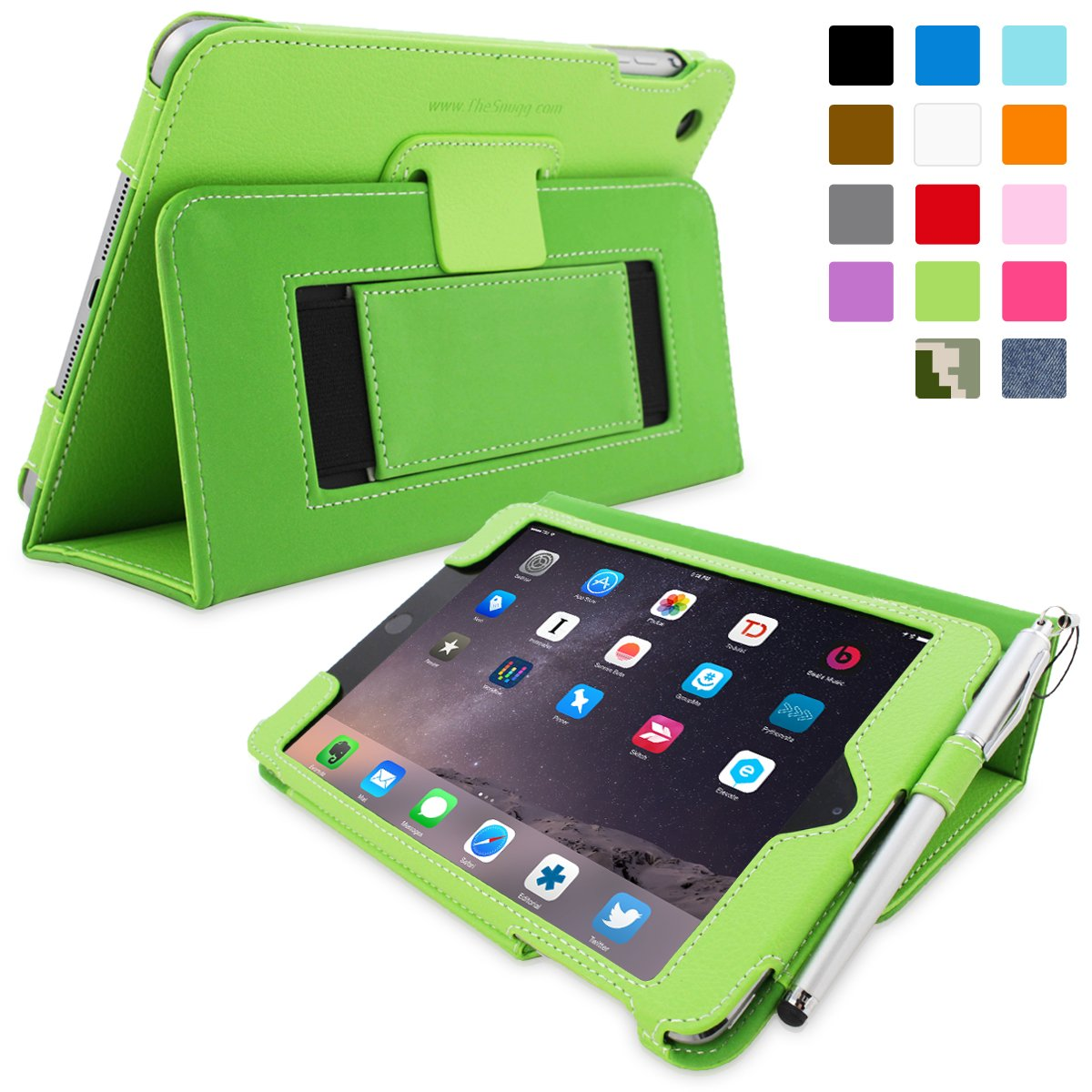 Snugg™ iPad Mini 3 Case   Smart Cover with Flipreview and more information