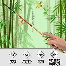 JINKING 渓流竿 ロッド 釣り竿 炭素繊維製 超軽量 超硬調 コンパクト延べ竿 小魚万能竿 1.8M/3.0M/3.6M