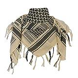 Explore Land 100% Cotton Military Shemagh Tactical Desert Keffiyeh Scarf Wrap (Tan) (Color: Tan, Tamaño: One Size)