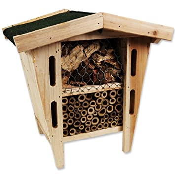 insektenhotel zum aufh ngen 28 x 21 x 29 cm insekten bienen wespen. Black Bedroom Furniture Sets. Home Design Ideas